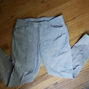Loft Size 14 Curvy Skinny Corduroy Pants